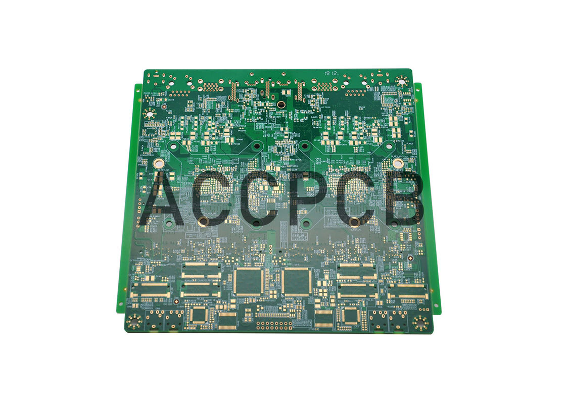 4 Layer HDI PCB Board 1+N+1 Structure Blue  Solder Mask HAL Lead Free