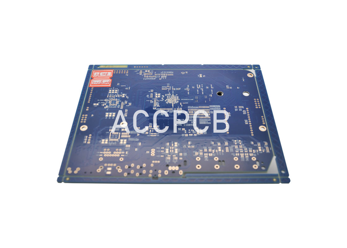 PWB Circuit Board Gold Flash Fr4 Material Laser Drilled Holes for Signal Amplification
