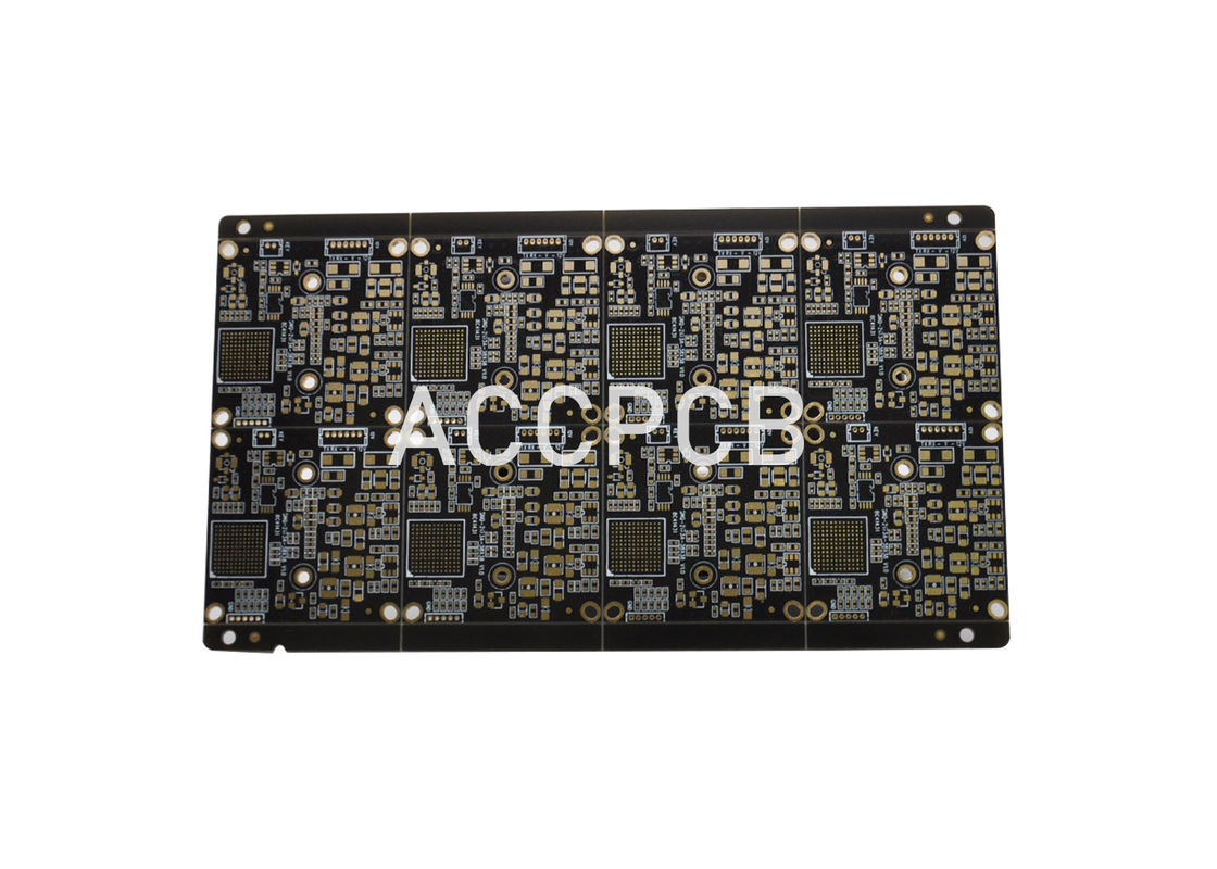 FR4 TG170 PWB Printed Wiring Board Black Oil For Security Monitoring Equipment