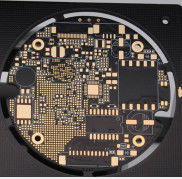 Gold Plated Diameter 40mm 1oz LED Light PCB Board With 4mil Min Line